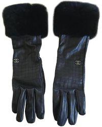 Chanel Guanti in pelle nero