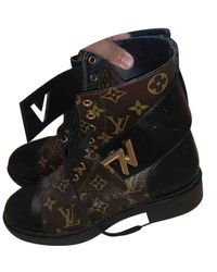 Louis Vuitton Wonderland Brown Leather Ankle Boots
