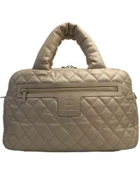 6fd36bd423b1 Chanel Coco Cocoon Bowling Bag Quilted Lambskin Large in White - Lyst