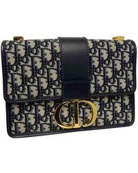 Dior 30 Montaigne Navy Cloth Handbag - Multicolour