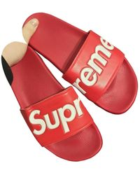 Supreme Red Rubber Sandals