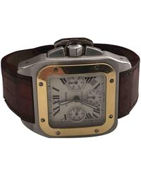 Cartier Santos 100 Xl Chronographe Uhren - Mettallic