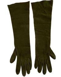 Dior Guanti in pelle kaki - Verde