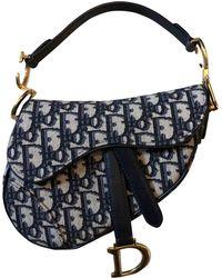 Dior - Saddle Blue Cloth Handbag - Lyst