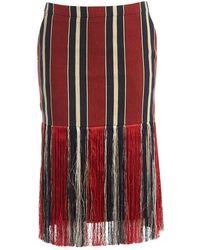 Dries Van Noten Multicolor Wool - Red