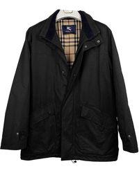 Burberry Abrigo en algodón negro