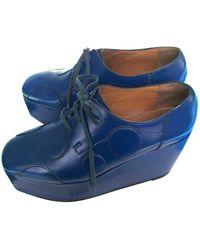 Junya Watanabe Leather Lace Ups - Blue