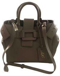 Roger Vivier Leather Handbag - Natural
