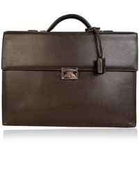 Loewe Leather Satchel - Brown