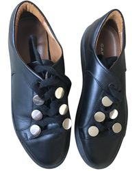 Carven Leather Sneakers - Black