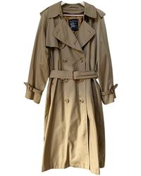 Burberry Wolle Trench - Natur