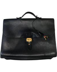 Hermès Bolsos en cuero negro Sac à dépèches