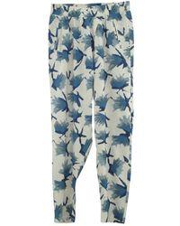 Ganni Blue Viscose Pants