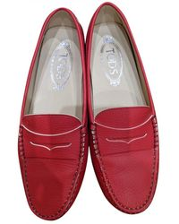 Tod's - Gommino Leather Flats - Lyst