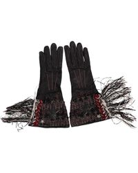 Chanel - Leather Long Gloves - Lyst
