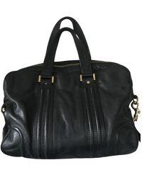 MCM Leather Satchel - Black