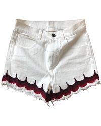 Chloé White Denim - Jeans Shorts