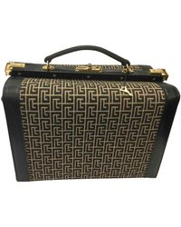 Balmain Brown Cloth Travel Bag