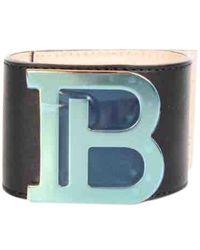 Balmain - Bracelets \N en Cuir Marron - Lyst