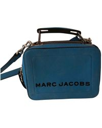 Marc Jacobs Sac à main The Box Bag en Cuir Bleu