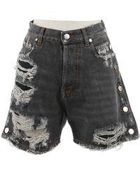 Faith Connexion Gray Cotton Shorts