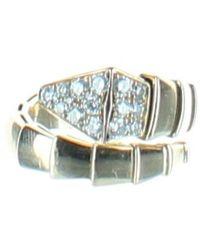 BVLGARI Serpenti Anthracite Steel Ring - Multicolour