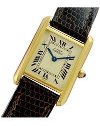 Cartier Tank Must Vermeil Uhren - Mettallic