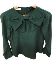 Moschino Green Silk Top