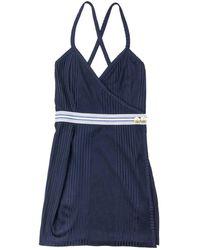 Balmain Robe \N en Viscose Bleu