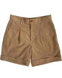 Comme des Garçons Shorts in Scamosciato Beige - Neutro