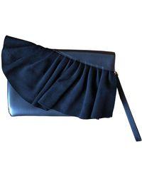 Karen Millen Leather Clutch Bag - Black