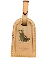 Louis Vuitton Porte Adresse Beige Leather Purse Wallet & Case - Natural