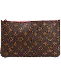 Louis Vuitton Marroquinería en lona marrón