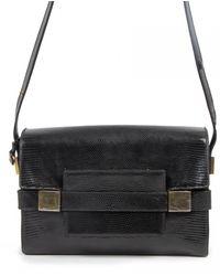 Delvaux Madame Lizard Handbag - Black