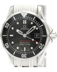 Omega Black Stainless Steel Seamaster Pro 300m 212.30.28.61.51.001 Women's Wristwatch 28 Mm