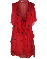 Antonio Berardi Red Silk Top
