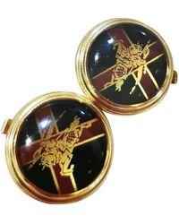 Burberry Gemelos en metal dorado - Multicolor