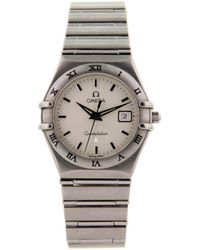 Omega - Constellation Silver Steel Watches - Lyst