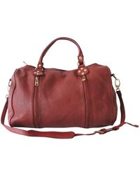 Zadig & Voltaire Sunny Leather Bowling Bag - Red