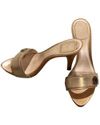 Dior Leder Clogs - Mettallic