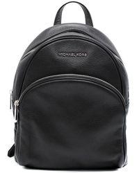 Michael Kors Abbey Leather Backpack - Black
