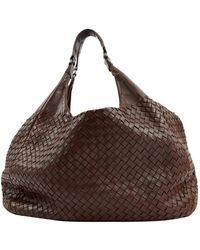 Bottega Veneta - Brown Leather Handbag - Lyst