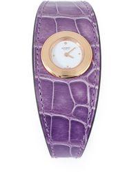 Hermès Gelbgold Uhren - Lila