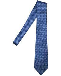 Ferragamo Cravatta in seta blu