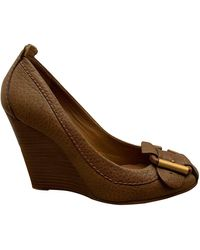 Chloé Leather Heels - Brown