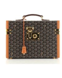 Goyard Brown Cloth Handbag