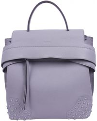 Tod's Leather Backpack - Gray