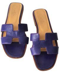 e7a8222f26d9 Lyst - Hermès Oran - Women s Hermès Oran Sandals
