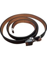 Golden Goose Deluxe Brand Black Leather Belt