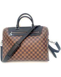 Louis Vuitton Porte Documents Jour Leinen Business Tasche - Braun